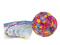 Lampion koule 25cm v sáčku karneval - mix barev