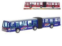 Autobus kloubový 42 cm na setrvačník - mix barev