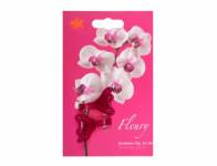 Klips FLEURY plastový fialovo ružový 4cm 2ks