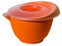 misa šlehací s vekom 23cm (3,5l) plastová, s gumou - mix farieb