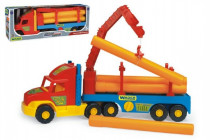 Auto Super Truck stavební s rourami Wader 76cm - mix barev