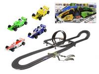 Autodráha 1:43 Polistil 10,1 m Grand Prix Formula 4 ks závodních aut s ovladači
