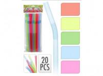slamky s kĺbom NEON 10x260mm (20ks) - mix farieb