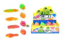 Sliz - hmota žaba 130g 8cm v plastovej dóze - mix farieb