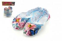 Balerínky / topánky pre dievčatá látkové 18cm