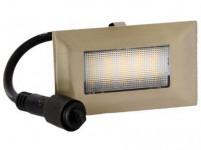 svietidlo LED zápustné 10x 6cm, 2W, IP67 teplé, do dreva, pochôdzne