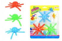 Chobotnica sliz lezúci po skle 3ks plast 8cm