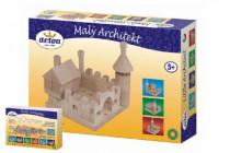 Stavebnice Malý Architekt kostky dřevo