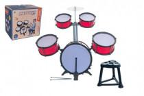 Bicí souprava/bubny plast 5ks s příslušenstvím