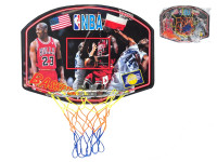 Kôš na basketbal veľký 60x47 cm s drevenou doskou