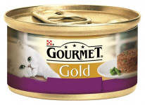 Gourmet Gold cat konz.-Savoury Cake jahňa, fazuľky 85 g - VÝPREDAJ