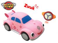 R / C Volkswagen Beetle ružový 18 cm na batérie so zvukom