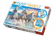 Puzzle Kone Cválajúca 600 dielikov Crazy Shapes 68x48cm