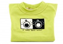 Dětské tričko Mayaka s dlouhým rukávem A Hard Day´s Night - zelené Vhodné pro věk 6-12 měsíců - VÝPREDAJ