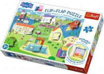 Puzzle 36 dielikov Flip-flap Prasiatko Pepa
