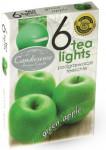 Sviečka čajová - aróma zelené jablko - 6 ks