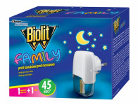 Odparovač BIOLIT FAMILY elektrický 45 nocí 27ml