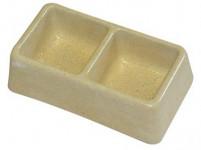 miska dvoumiska štvorca 165x90x50mm (malá) betón (50)