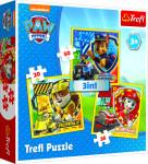 Puzzle 3v1 Paw Patrol / Tlapková patrola 20x19,5cm
