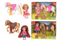 Bábika s koňom / poníkom plast - mix variantov či farieb