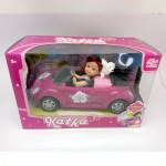 Bábika Katka v aute