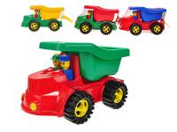 Auto nákladní 35 cm s panáčky - mix barev