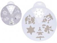 šablona vánoční pr.30cm PVC BÍ - mix variant či barev