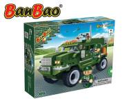 Stavebnice BanBao Auto Humvee na zpětné natažení 290ks + 3 figurky