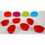 formička OVÁL silikon (6ks) - mix barev