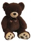 Plyšový medvedík 60 cm, tmavo hnedý