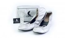 Skladacie topánky do kabelky Cinderella