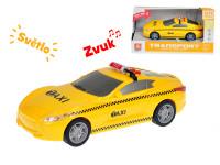 Auto taxi 16 cm 1:28 na zotrvačník so svetlom a zvukom