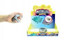 Hmota / plastelína 90g inteligentný metalická 8cm v plastovej krabičke