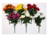 Kvetina Chryzantéma X13 umelá 13 kvetov 36cm