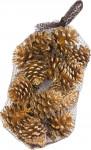 Dekorácie - Balíček Blue Pine 17 ks - 450 g zlatý (0691)