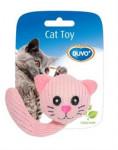 Hračka cat textil Zvieracie hlava s chvostíkom dôvo + 5 cm