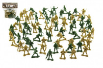 Sada vojaci 2 farby plast CZ dizajn na karte 18x19,5cm