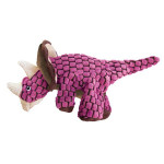 Hračka textil Dynos Triceratops ružový Kong small