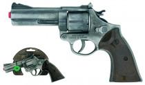 Policajné revolver Gold colection strieborný kovový 12 rán