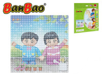 BanBao stavebnice základná doska 25,5x25,5 cm transparentné