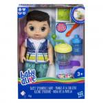 Hasbro Baby Alive Tmavovlasý chlapec s mixérom - VÝPREDAJ