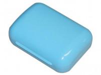 krabička na mydlo VESNA obdĺžniková 10,5x7,5cm plastová - mix farieb