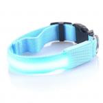 Svietiace LED obojok s USB nabíjaním, modrý, Domestico