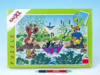 Puzzle Krtek Krtečkova plavba 47x33cm 100 dílků XXL