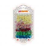 Dekorativní flitry kulaté - 8 mm 5 perleťových barev 1000 ks