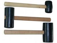 palička gumová 1000g, 75mm, drevená rukoväť