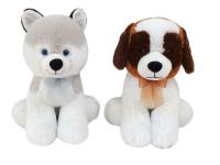 Pes plyšový 40 cm sedící s mašlí - mix variant či barev