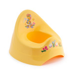 Detský nočník s melódiou, žltý so žirafou, Cuculo - VÝPREDAJ