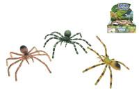 Pavúk plast pohyblivé nohy 7x16cm - mix farieb