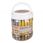 Glittrové lepidlo se třpytkami mix - zlatá, stříbrná, 50 x 10,5 ml